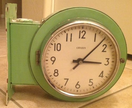 Rare Vintage Double Sided Citizen Slave Clock Marine Ebay Clocks Wall Pinterest And Antique