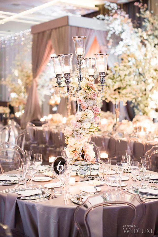 WedLuxe – The Bride Wore Oscar De La Renta at this Four Seasons Toronto Wedding | Follow @WedLuxe for more wedding inspiration!