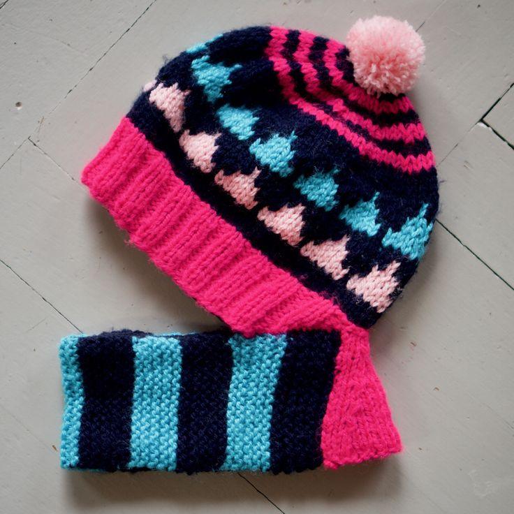 Knitting pattern balaclava / hooded hat for baby, toddler, child. https://www.etsy.com/shop/TeaTimeKnitters?ref=hdr_shop_menu