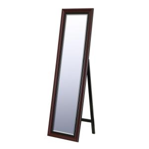 18 in. x 64 in. Traditional Floor Mirror in Cherry-8620 at The Home Depot