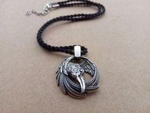 1 шт. vikings кулон ожерелье норвежский ворон ожерелье odins кулон huginn и muninn мода унисекс ювелирные изделия(China (Mainland))