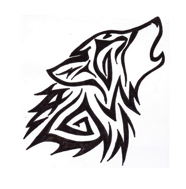 wolf_tribal by POOR LITTLE RICH CHICK, via Flickr