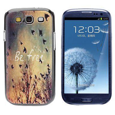 Be free quote hardcase hoesje voor Samsung Galaxy S3
