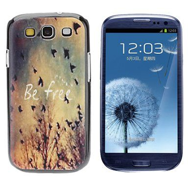 Be free quote hardcase hoesje voor Samsung Galaxy S3