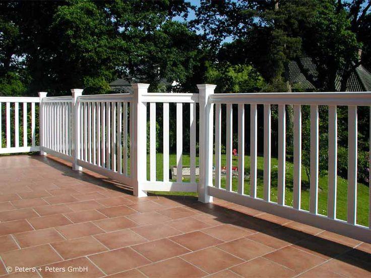 Geländer für Balkon, Garten und Terrasse, Hartholz WEISS + RAL mit 25 Jahren Garantie - Maßanfertigung