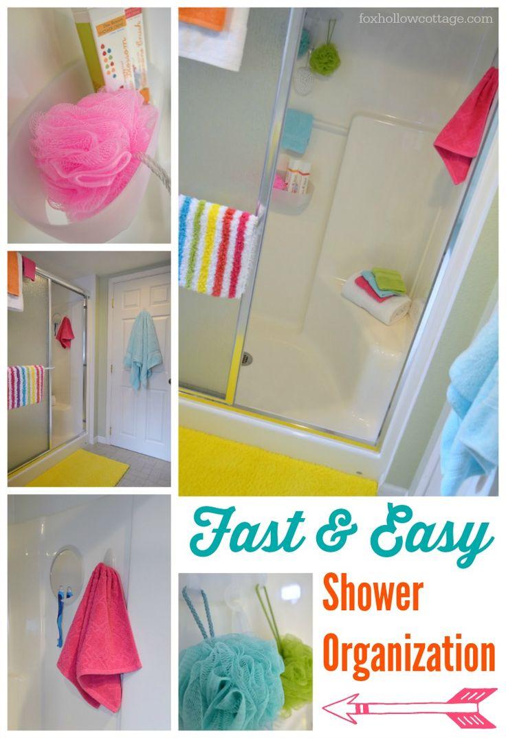 Fast Easy Shower Organization   Command Brand Bathroom Organizing #DamageFreeDIY #ad