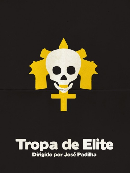 Cartazes minimalistas de filmes brasileiros - Tropa de Elite