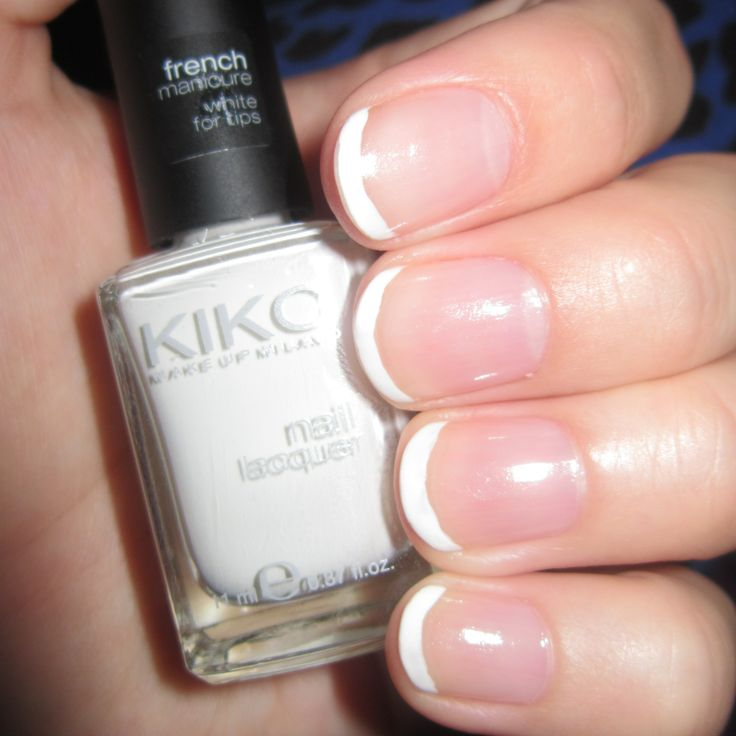 French Manicure with Nail Lacquer Kiko Make Up Milano