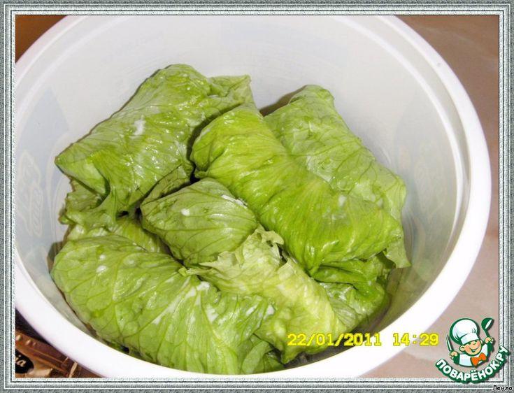 Листья салата для золотой рыбки