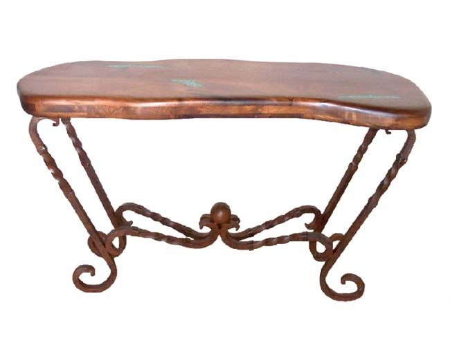 Attractive Free Form Mesquite Console Table Western Sofa Tables   Western Style  Console Table With 1 Inch