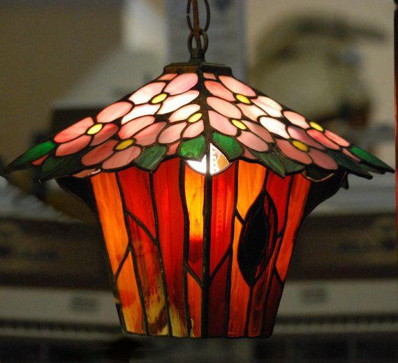 Floración árbol vidrieras linterna © Dodge por DodgeGlassStudio