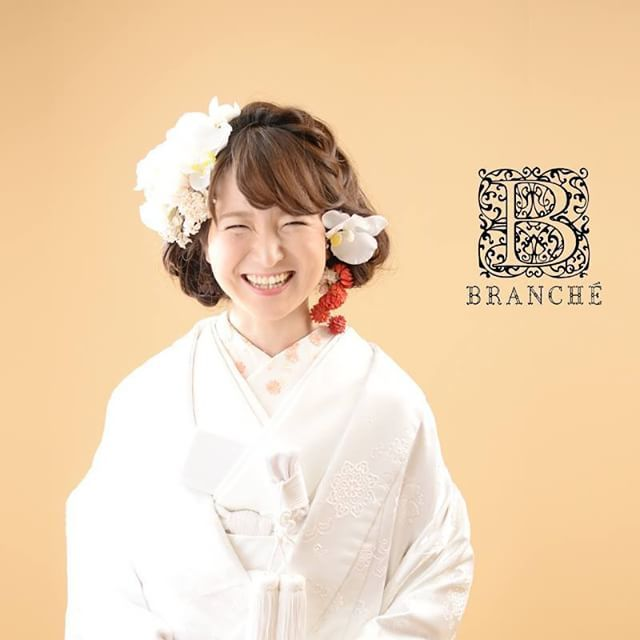 和装ボブスタイル♡  kimono:A-7 eri:生成り  #branche #wedding #ブランシェ #ウェディング #和装 #着物 #白無垢 #和装ヘア #ヘアアレンジ ...