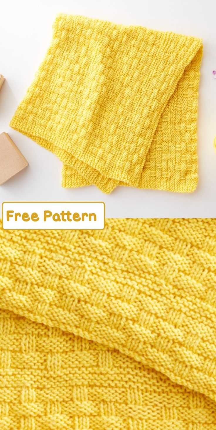 Create This Simply Chic Knitted Baby Blanket In Time For