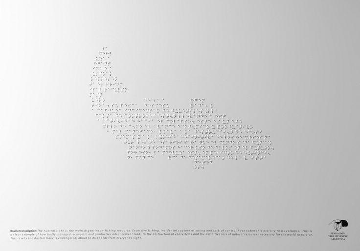 Adeevee - Fundacion Vida Silvestre Braille Campaign: Austral Hake, Pampa Deer, Yaguarete