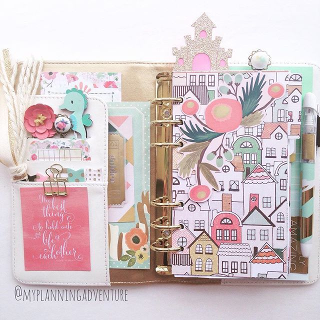 myplanningadventure: A quiet house means I can play in my planner. The result isn't my usual style but that's what I love about my planner--it can have a different personality daily.