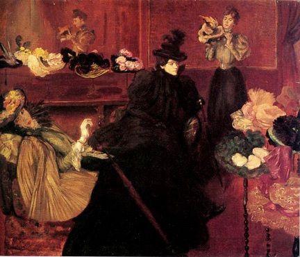The Millinery ~ Federico Zandomeneghi ~ (Italian: 1841-1917)