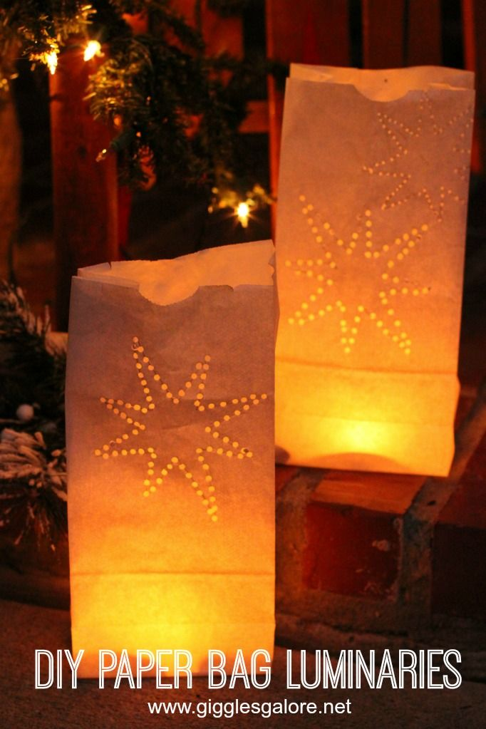 How To Make Diy White Paper Bag Luminaries