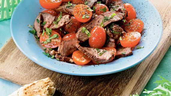 """Итальянский салат """"Страчетти ди манзо"""" из говядины на гриле. Пошаговый рецепт с фото, удобный поиск рецептов на Gastronom.ru"""