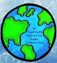 """On Planet Earth, There are 5 Oceans"" -Children's Song to learn the names of the oceans"