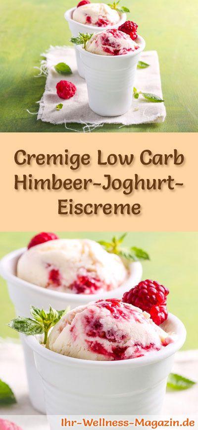 Rezept für Low Carb Himbeer-Joghurt-Eis - ein einfaches Eisrezept für kalorienreduzierte, kohlenhydratarme und gesunde Eiscreme ohne Zusatz von Zucker ...