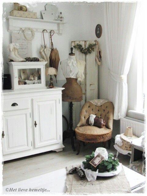 17 beste afbeeldingen over landelijk en brocant wonen op pinterest brocante cottages en - Deco stijl chalet ...