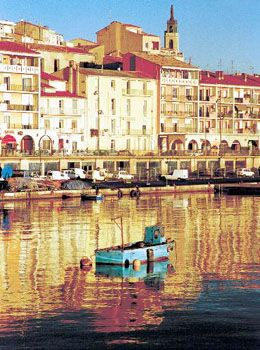 The fishing port of Sète on the French Mediterranean