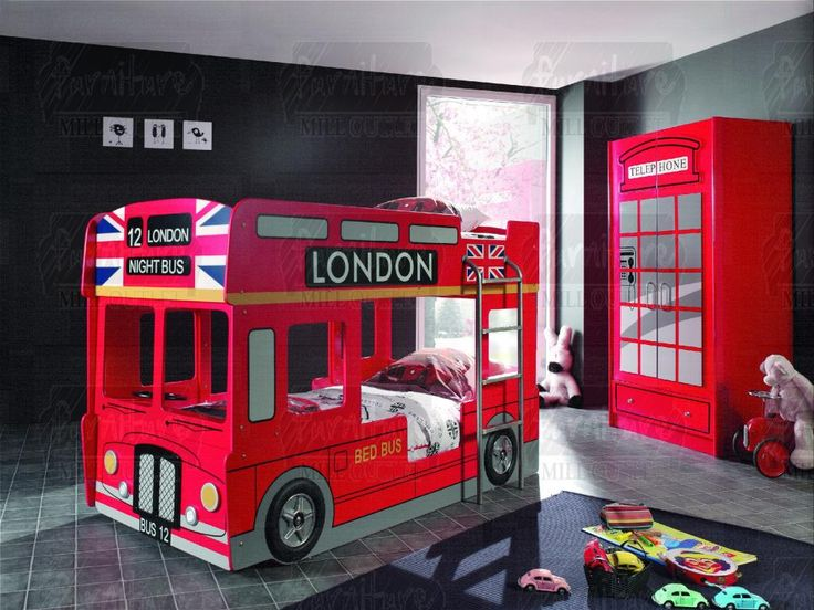 56 Best Buses Images On Pinterest: The Open Top Double Decker London Bus Bunk Bed. This
