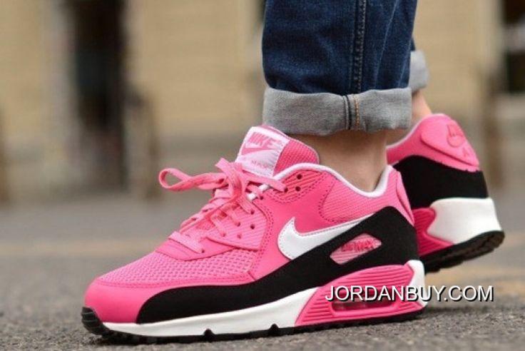 http://www.jordanbuy.com/nike-air-max-90-womens-shoes-pink-black-white-mesh.html NIKE AIR MAX 90 WOMENS SHOES PINK BLACK WHITE MESH Only $85.00 , Free Shipping!