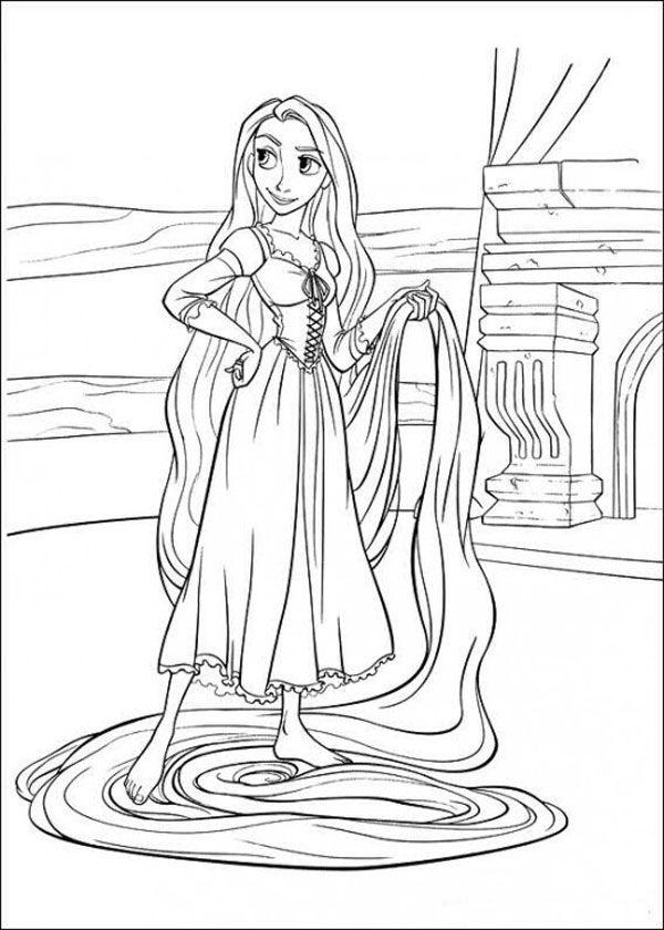 32 Disegni Da Colorare Di Rapunzel Album Rapunzel Colori