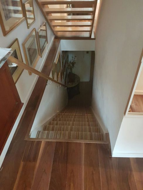 Client: Private Residence In North London Brief: To supply & install walnut wood flooring to premises