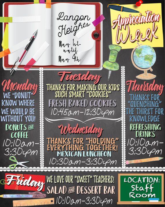 teacher appreciation week ideas teacher appreciation week