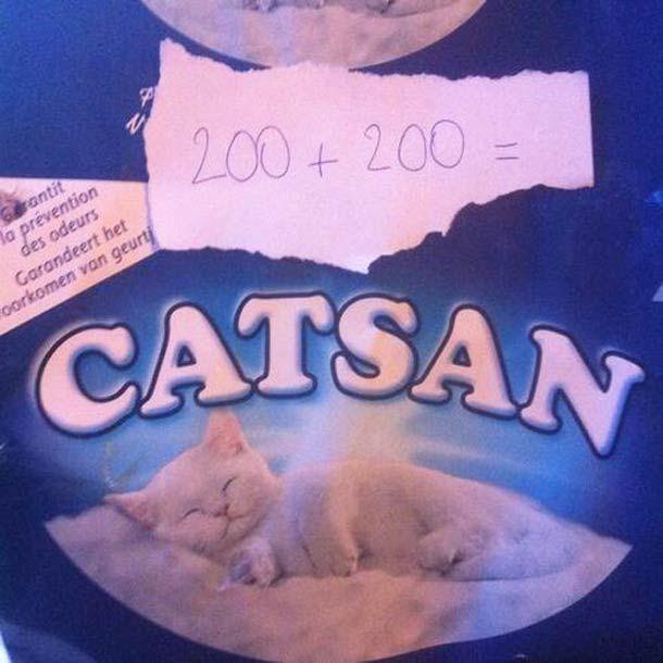 Des jeux de mots drôles créés à partir de petits papiers et de noms de marques