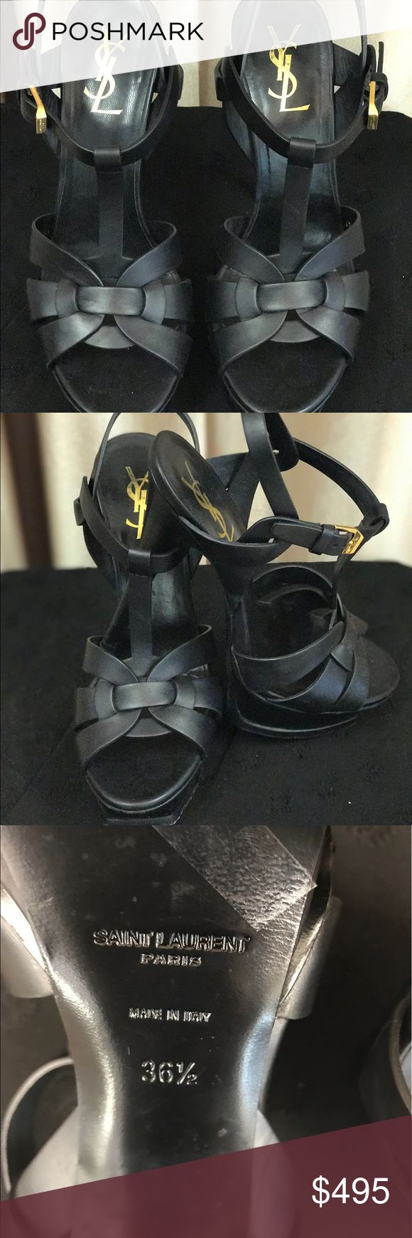 💯24 hr. SALE Ysl black open toe mint condition 💯24 HOUR SALE💯This beauty worn only to try on. Practically brand new! Yves Saint Laurent Shoes Heels