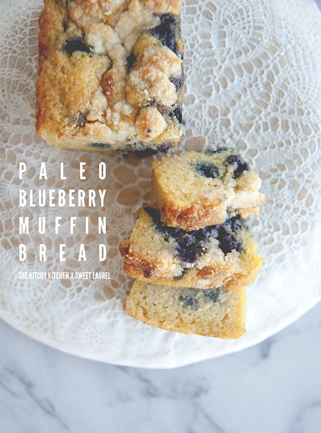 PALEO BLUEBERRY BREAD WITH STREUSEL TOPPING | The Kitchy Kitchen
