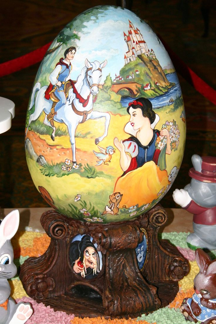 Wow, these are some amazing decorated chocolate eggs on display at Disney's Grand Floridian Resort & Spa at Walt Disney World