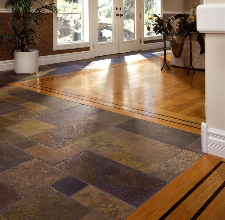 slate and hardwood floor Google Search flooring