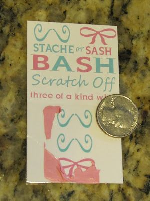lil Mop Top: How To - Scratch Off Tickets for gender reveal idea