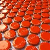 Penny Round Mosaic Tiles Orange