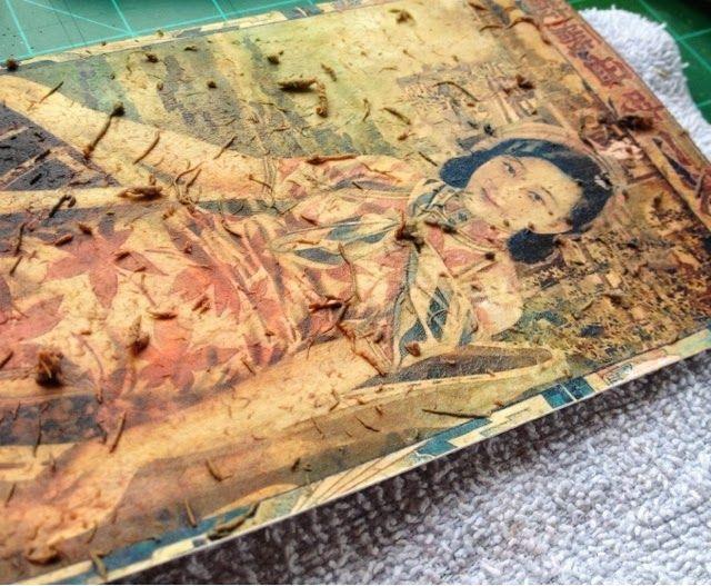 art in red wagons: photo transfer onto moleskin books