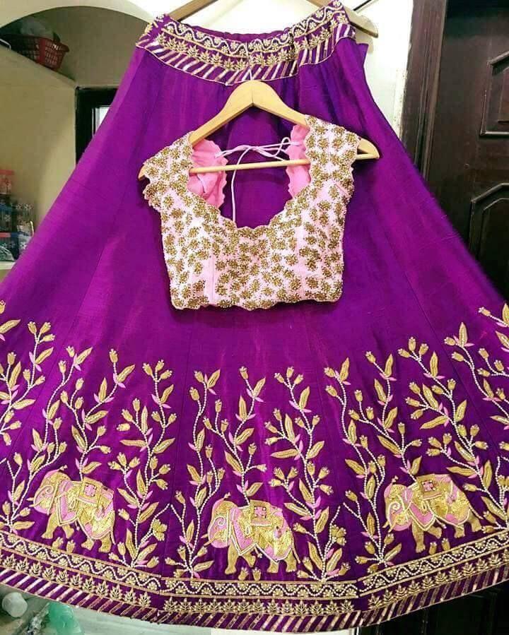 Beautiful Bridal Lehengas | Buy online Half sarees | Elegant Fashion Wear