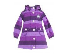 Danefæ jakke til pige i lilla striber