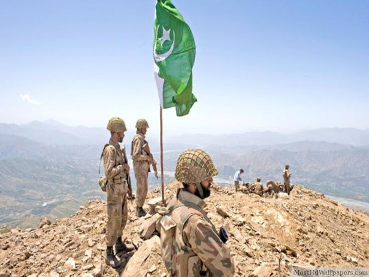 Pak Army with Flag