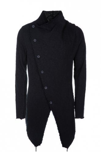 Thom Krom M SJ 133 Asymmetric Button Jacket Black