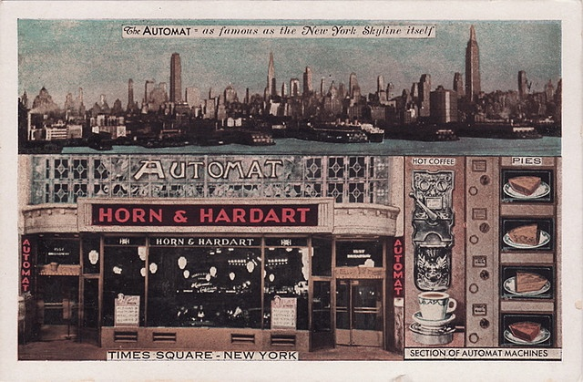 Automat is New York.: Vintage Postcards, Automat Memories, Time Squares, Hardart Automat, New York Cities, Favorite Places, Hardart Time, Cities Postcards, Automat Postcards