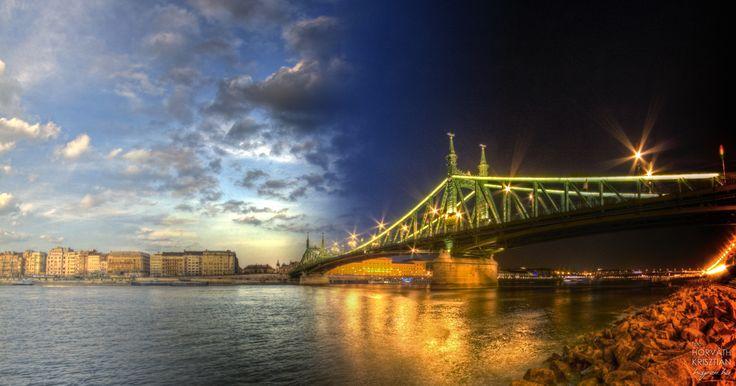 Timebridge at Budapest. (Szabadság-híd Liberty bridge)