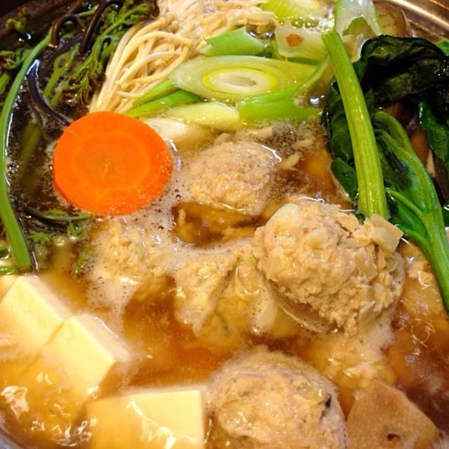 鍋の季節もそろそろ ワラビや筍で春つくね鍋 - 79件のもぐもぐ - 筍入り鶏つくね鍋 by sasachanko