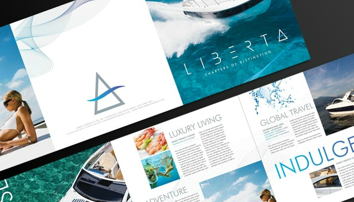 Brochure concept for luxury yachting company LIBERTA yachting by - tourism brochure template