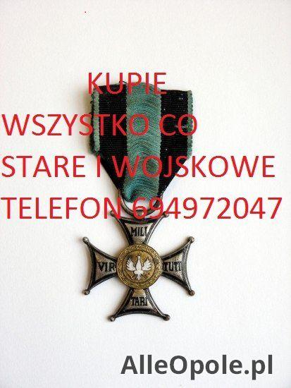 KUPIE WOJSKOWE STARE ODZNACZENIA,ODZNAKI,MEDALE,WYPOSAŻENIE (Opole)