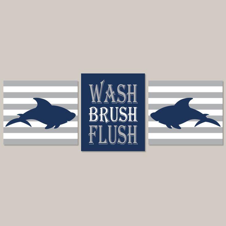 Shark Bathroom  Kids Bathroom Decor  Shark Bathroom Wall Art  Wash Brush  Flush. The 25  best Shark bathroom ideas on Pinterest   Shark room  Shark