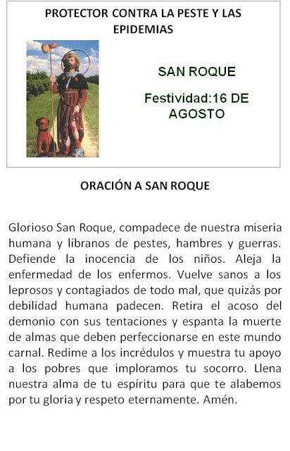 San Roque, protector contra la peste y epidemias.